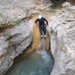 canyon du formiga ,idéal pour un séjour initiation au canyoning en sierra de guara,il y a de nombreux,rappel,saut,toboggan