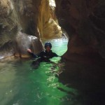 idéal pour un,séjour initiation au,canyon ou,canyoning ,dans la sierra de guara avec plouf le canyoneur pour faire des ,rappel,saut,toboggan en Espagne