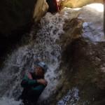 toboggan oscoros de Balcez sierra de Guara sejour canyoning,canyon,plouf,canyoneur