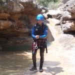 canyon du Formiga sierra de guara après un saut ou un toboggan sejour canyoning