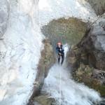 canyon de barberine en haute Savoie ,il est idéal pour un séjour canyoning sportif il y a des sauts et des toboggans