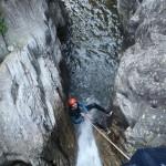 le canyon de barberine en haute Savoie ,il est idéal pour un séjour canyoning sportif avec ses sauts et ses toboggans