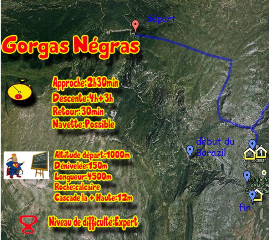 topos du canyon de gorgas négrasil est idéal pour faire un séjour expert au canyoning dans la sierra de guara
